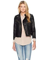Armani Exchange - | Solid Eco Lether Moto Jcket - Lyst