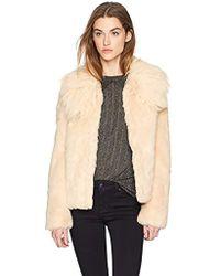Guess - Agata Faux Fur Coat - Lyst