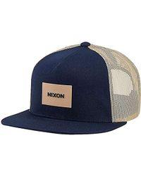 f05b6f44 Nixon - Unisex Team Trucker Hat - Lyst