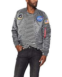 6829355f914 Lyst - Alpha Industries Nasa Ma-1 Bomber Jacket in Blue for Men