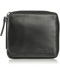 RVCA Mens Zip Around Wallet - Black
