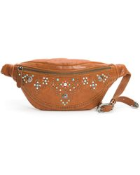 Frye Concho Stud Leather Hip Pack Belt Bag - Brown