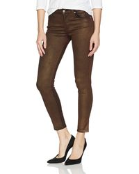 James Jeans Twiggy Skinny Ankle Jean In Bronze - Brown