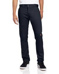 Dickies Skinny Straight Double Knee Work Pant - Blue