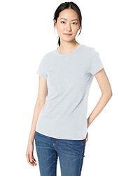 Brand Daily Ritual Womens Lived-in Cotton Slub Short-Sleeve Crew Neck T-Shirt