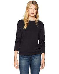 Bailey 44 Bardot Lace Up Back Criss Cross Sweatshirt - Black