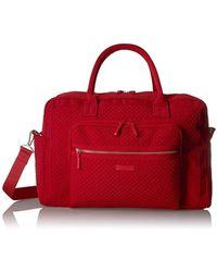 Vera Bradley Iconic Weekender Travel Bag, Microfiber - Red
