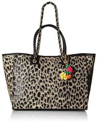 Betsey Johnson - Mighty Jungle Leopard Large Tote - Lyst