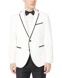 Kenneth Cole Reaction Slim Fit Evening Blazer - White