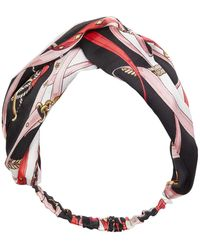 Genie by Eugenia Kim Status Print Turban Headband - Black