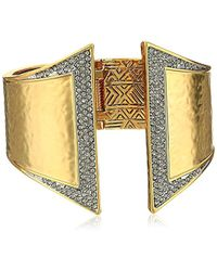 House of Harlow 1960 - Golden Scutum Hinge Cuff Bracelet - Lyst
