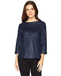 Three Dots - Knit Loose Short Sweatshirt - Lyst