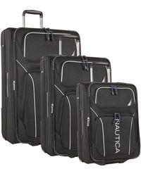 Nautica 3 Piece Luggage Set-lightweight For Travel2 - Black