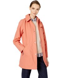 Vince Camuto Hooded Mid-weight Rain Coat Jacket - Pink