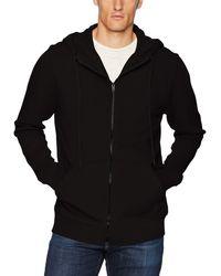 Hudson Jeans Jeans Hooded Zip Up Sweatshirt - Black