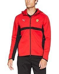 PUMA - Scuderia Ferrari Hooded Sweat Jacket - Lyst