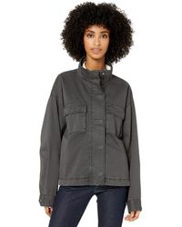 Goodthreads Cropped Utility Jacket outerwear-jackets - Gris