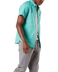 Dockers Short Sleeve Button-down Supreme Flex Shirt - Green