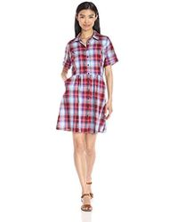 G.H.BASS - Textured Plaid Woven Dress, - Lyst