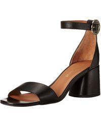 Emporio Armani Block Heel Ankle Strap Sandalen mit Absatz - Blau
