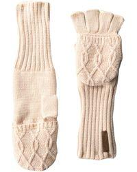 Timberland Pop Over Fingerless Gloves - Pink