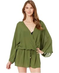 Vince Camuto Cover Up Romper - Green