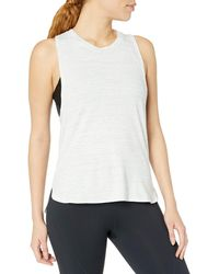 Core 10 Pima Cotton Dropped Arm Sleeveless - White