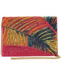 Mary Frances Hot Tropics Beaded Crossbody Clutch Handbag - Multicolor