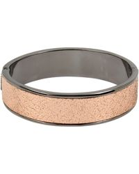 Kenneth Cole Metallic Inlay Hinged Bangle Bracelet