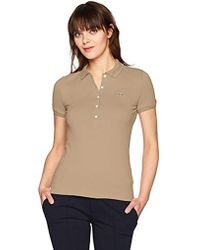 Lacoste - Classic Short Sleeve Slim Fit Stretch Pique Polo - Lyst