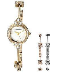 Anne Klein - Tri-color Bangle Watch Box Set - Lyst