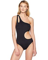 Kenneth Cole Reaction - Shoulder Cut Out One Piece Swimsuit - Lyst