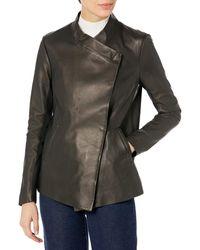 Mackage Lemma Leather Wrap Jacket - Black