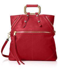 7c2eaeb282cf Lyst - Cynthia Rowley Miranda Leather Tote Bag in Red