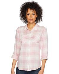 Pendleton Plaid Roll Sleeve Soft Shirt - Pink