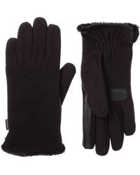 Isotoner Stretch Fleece Touchscreen Texting Cold Weather Gloves With Warm - Black