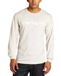 09d98262c Carhartt - Graphic Outlined Logo Long Sleeve T-shirt - Lyst