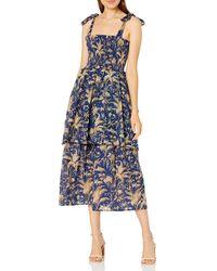 Rebecca Taylor Sleeveless Talita Smock Dress - Blue
