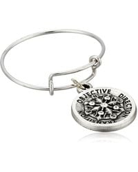 ALEX AND ANI Compass Expandable Rafaelian Silver Stackable Ring - Metallic