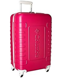 Columbia Hardside Spinner Check In Luggage Suitcase - Pink