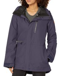 Volcom Shelter 3d Stretch Insulated Snowboard Ski Winter Hooded Jacket - Blue