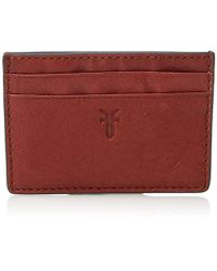 Frye Leather Card Case - Red