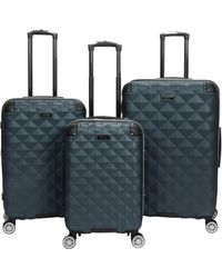 Kenneth Cole Reaction Diamond Tower Luggage Collection Lightweight Hardside Expandable 8-wheel Spinner Travel Suitcase - Green