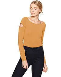 Guess - Long Sleeve Ania Cut Out Bodysuit - Lyst
