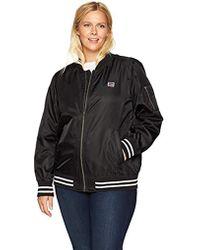 01436fa3c Size Plus Retro Stripe Rib Knit Bomber Jacket
