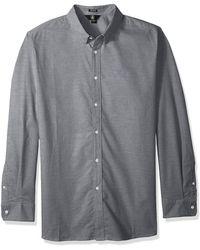 Volcom - Oxford Stretch Long Sleeve Button Up Shirt - Lyst