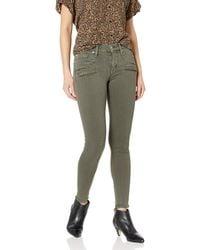 Hudson Jeans Jeans Roe Midrise Ankle Super Skinny Zip Front Detail 5 Pocket Jeans - Green