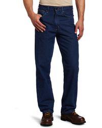 Carhartt Flame Resistant Signature Denim Jean Relaxed Fit,denim,44 X 34 - Blue
