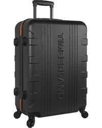 "Timberland 21"" Hardside Spinner Carry On Suitcase - Black"