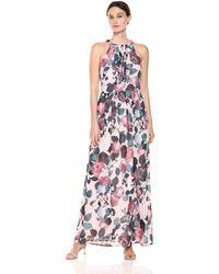 Nine West Pleated Bodice Maxi Dress - Multicolor